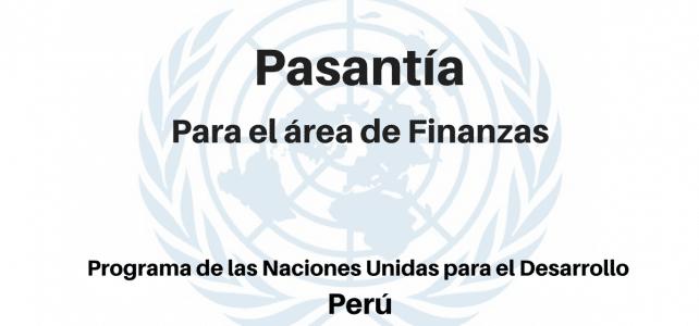 Pasantía para el área de Finanzas PNUD