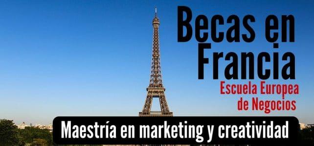 Becas en Francia para maestría en marketing y creatividad