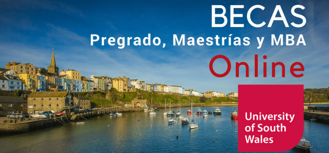 Becas de Pregrado y maestría online Universidad del Sur de Gales- UK