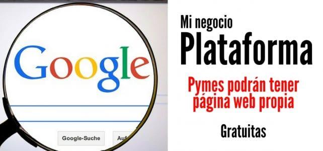 Google lanza plataforma para que pymes tengan página web gratis