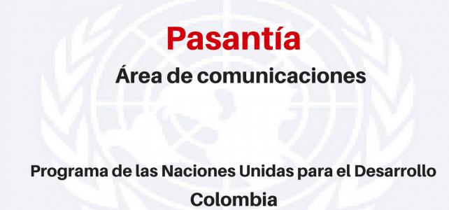 Pasantía para área de comunicaciones con Naciones Unidas