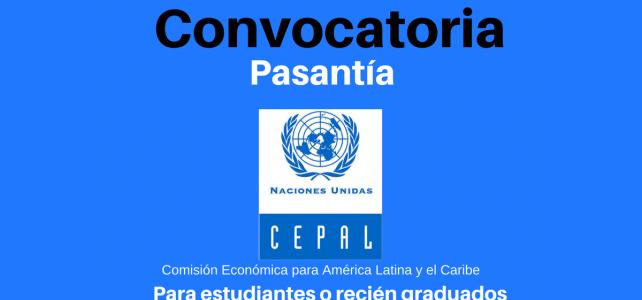 La CEPAL busca personas que hayan terminado (o esten cursando) carreras afines a los recursos humanos o áreas administrativas