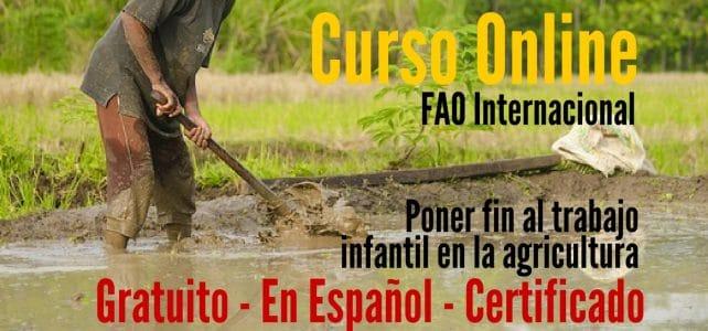 Curso online y certificado de la FAO sobre el trabajo infantil en la agricultura