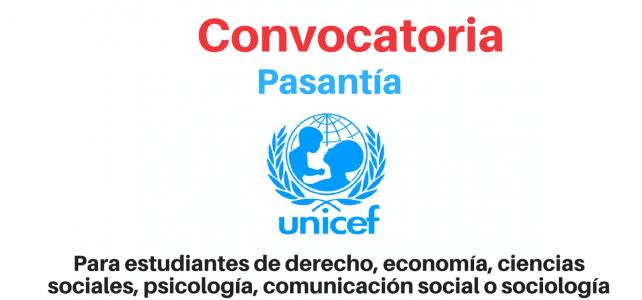 UNICEF convoca estudiantes de derecho, economía, ciencias sociales, psicología y afines para pasantías