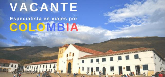 Convocatoria para especialista de viaje en Colombia
