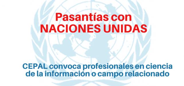 Pasantías con Naciones Unidas en ciencia de la información