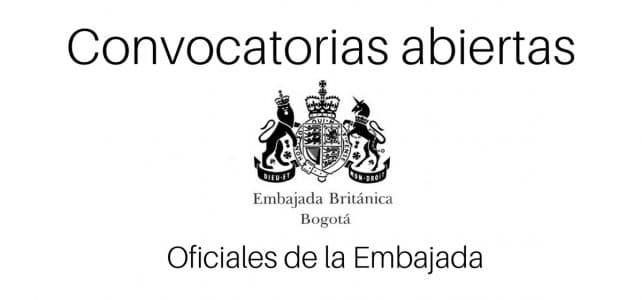 Embajada de Reino Unido en Colombia  abre vacantes.