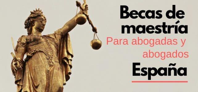 Becas en España para profesionales en derecho o leyes