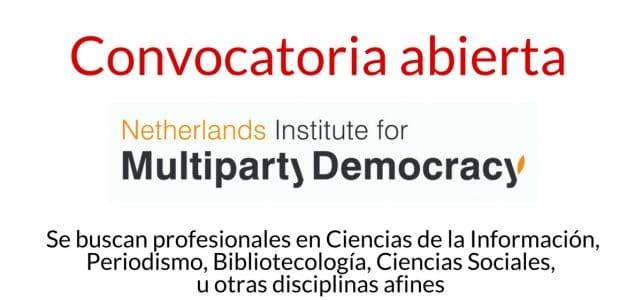 Convocatoria del Instituto Holandés para la Democracia Multipartidaria NIMD