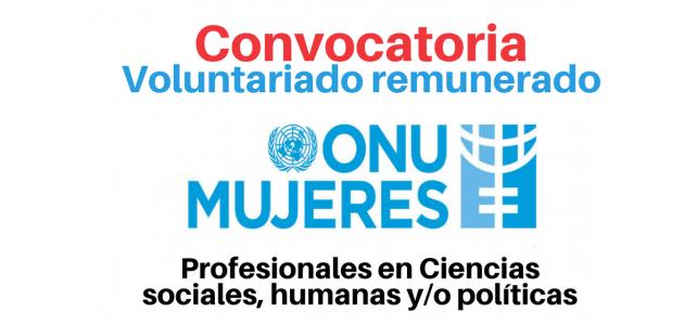 Voluntariados remunerados con ONU Mujeres