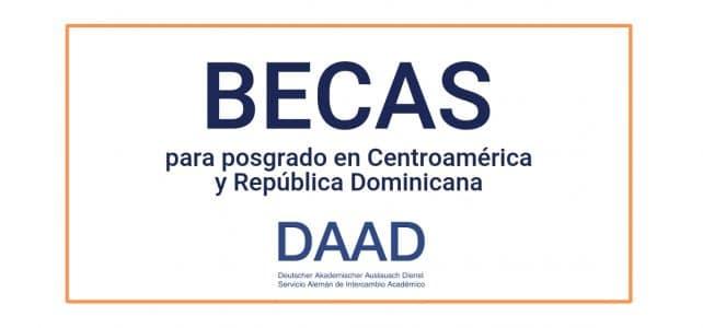 Becas en Centroamérica y República dominicana para estudios de maestría