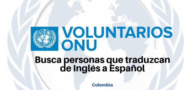 Voluntariados remunerados con Naciones Unidas.