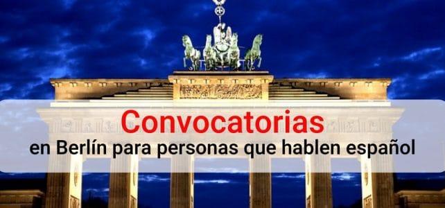 Convocatoria para trabajar en Alemania hablando español