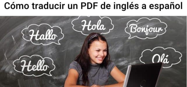 Cómo traducir un PDF del inglés al español